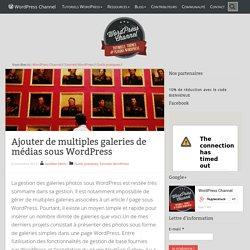 Ajouter de multiples galeries de médias sous WordPress
