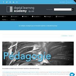 De multiples stratégies pour la formation hybride ou «blended learning»