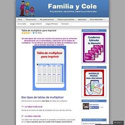 Tabla de multiplicar para imprimir « Familia y Cole