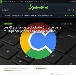 Los 61 atajos de teclado de Chrome para multiplicar por diez tu productividad