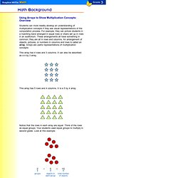 Grade 3: Arrays to Show Multiplication Concepts: Overview