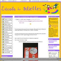 Les tables de Multiplication: leçon à manipuler - L'école des Juliettes
