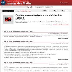 Quel est le sens de (-3) dans la multiplication (-3)(-2) ? - Poster un message