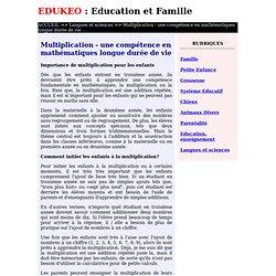 Multiplication - une compétence en mathématiques longue durée de vie