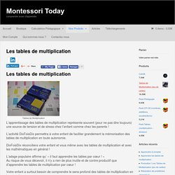 Les tables de multiplication – Montessori Today