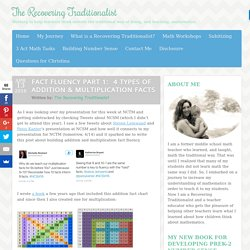 Fact Fluency Part 1: 4 Types of Addition & Multiplication Facts - The Recovering Traditionalist