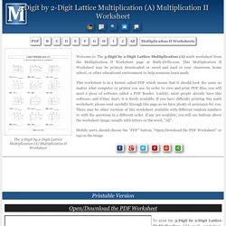 3-Digit by 2-Digit Lattice Multiplication (A) Multiplication II Worksheet