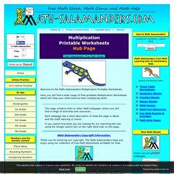Multiplication Printable Worksheets