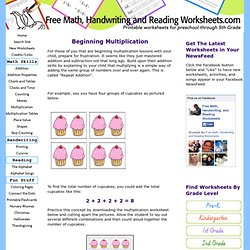 Beginning Multiplication - Lesson Plan plus Worksheets