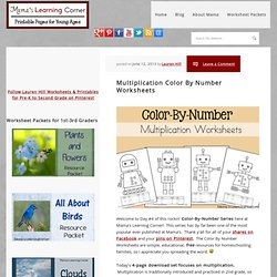 Multiplication Color By Number Worksheets - Mamas Learning Corner