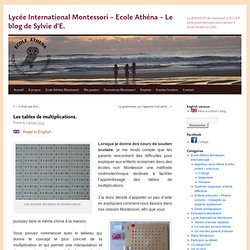 ~ Les tables de multiplications