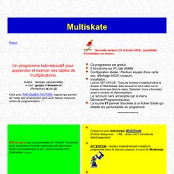Tables de multiplications avec MultiSkate