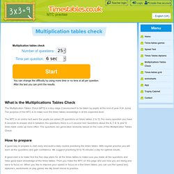 Multiplications Tables Check - Timestables.co.uk