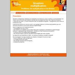 Situations multiplicatives : compléments en ligne