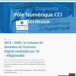 2013 – 2020 : le volume de données de l'Univers Digital multiplié par 10 – #BigDataBx
