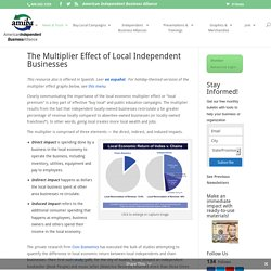 The Multiplier Effect of Local Independent Businesses