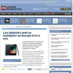 Les tablettes vont se multiplier en Europe d'ici 4 ans