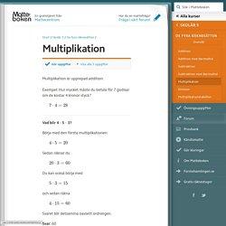 Multiplikation (Skolår 5, De fyra räknesätten)
