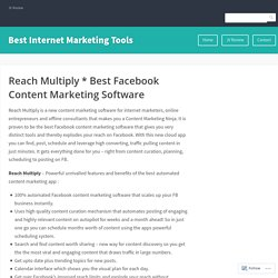 ReachMultiply Facebook Content Marketing Software