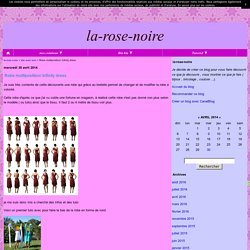 Robe multiposition/ infinity dress - la-rose-noire