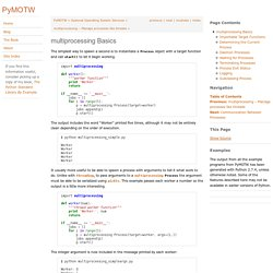 multiprocessing Basics