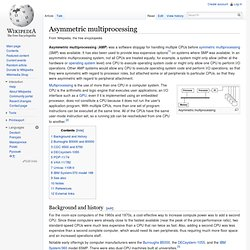 Asymmetric multiprocessing