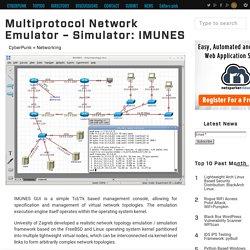 Multiprotocol Network Emulator - Simulator: IMUNES