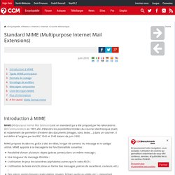 Standard MIME (Multipurpose Internet Mail Extensions)