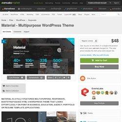 Material - Multipurpose WordPress Theme