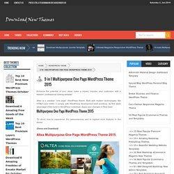 9 in 1 Multipurpose One Page WordPress Theme 2015 - Download New Themes