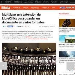 MultiSave, una extensión de LibreOffice para guardar un documento en varios formatos