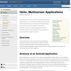 Hello, Multiscreen Applications