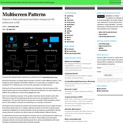 Multiscreen Patterns | precious, strategic design & visual language