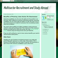 Multisector Recruitment and Study Abroad: Benefits of Posting Jobs Online for Businesses