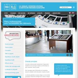 Nos solutions de plans multisensoriels pour la mise en accessibilité des bâtiments et ERP – PMS, TOM - EO GUIDAGE