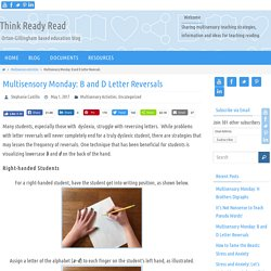 Multisensory Monday: B and D Letter Reversals - Think Ready Read