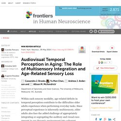 Audiovisual Temporal Perception in Aging: The Role of Multisensory Integration and Age-Related Sensory Loss