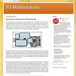 P3 Multisolutions: Importance of Responsive Web Designing