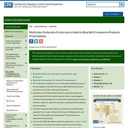 CDC 10/06/15 Multistate Outbreak of Listeriosis Linked to Blue Bell Creameries Products (Final Update)