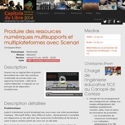 Produire des ressources numériques multisupports et multiplateformes avec Scenari