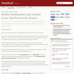 Media multitaskers pay mental price, Stanford study shows