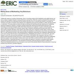 ERIC - Making Sense of Multitasking: Key Behaviours, Computers & Education, 2013-Apr
