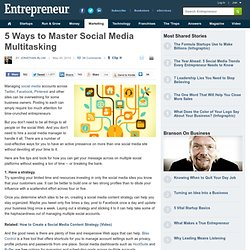 5 Ways to Master Social Media Multitasking