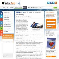 Multitasking - Time Management Training from MindTools.com