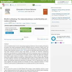 media multitasking essay The effects of multitasking on organizations 2 aerospace and defense, aviation, energy, semiconductors, software and pharmaceuticals – that consciously.