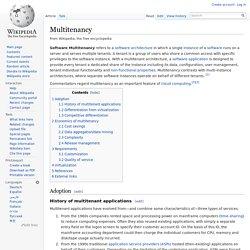 Multitenancy - Wikipédia, a enciclopédia livre