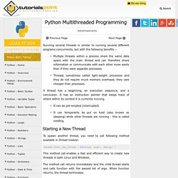 Python Multithreaded Programming