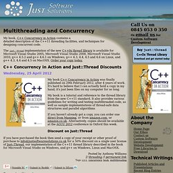 Multithreading and Concurrency | Just Software Solutions - Custom Software Development and Website Development in West Cornwall, UK
