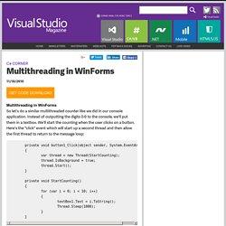 C# Corner: Multithreading in WinForms