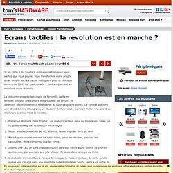 Un écran multitouch géant pour 50 € : Ecrans tactiles : la révolution est en marche ?